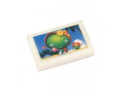 Ластик ВЕСЕЛЫЕ КАРТИНКИ, белый с цветной печатью,28х18х5 мм, арт. ARE100