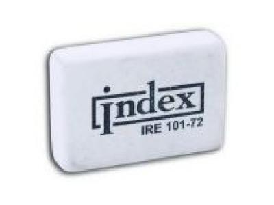 Ластик (резинка стирательная) каучуковый белый 8х20х31мм, арт.IRE101-72