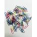 Скрепки 25мм, треугольные, цветные ассорти, в уп., 100шт