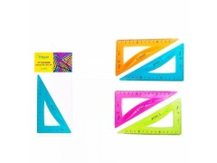 Треугольник гибкий, пластиковый, 30*х60*х90*, 5 цветов в ассортименте, арт. TZ 7273