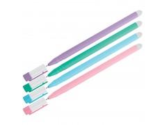 """Ручка гелевая стираемая OfficeSpace """"Soda"""" синяя, 0,5м, антискол. корпус ассорти 282062"""