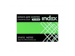 Бумага для заметок статическая, маркерная, 75х50мм, зеленая, 100л, арт. I532603