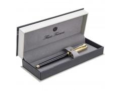 Ручка перьевая Sindaco Gold , глянцевый черный лакирован.корпус, позолочен.детали и колпачок,синий М, арт. FF-FP5032