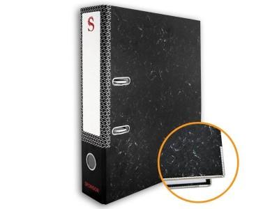 Папка-регистратор 50 мм, черный мрамор, с метал.уголком, арт. SPR 5/30 L