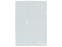 Папка-уголок жесткая, прозрачная, бесцветная, Workmate