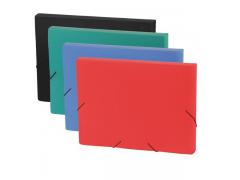 Папка на резинках FOCUS, ф.A4, 30 мм, синий, материал PP, плотность 600 мкр, арт. 0410-0059-03