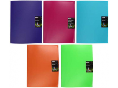 Папка с 30 файлами COLOURPLAY, ф.A4, 0,8мм, прозрачная, ассорти, арт. ICPD30/ASS