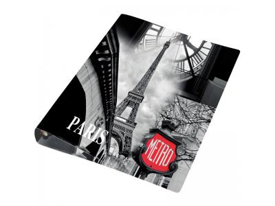Папка-файл на 2 кольцах, ПАРИЖ, PP, толщина 500 мкр., 35 мм, диаметр 20 мм, арт. 0410-0067-33