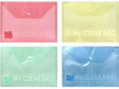 Папка-конверт с кнопкой MY CLEAR BAG, ф. А5, 140мкм, арт. SCB209/A5