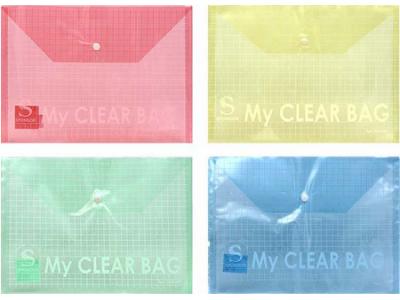 Папка-конверт с кнопкой MY CLEAR BAG, ф. А5, 140мкм, арт. SCB209/A5