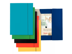 Папка на резинках ESSELTE, ф.А4, лакированный картон (400 г/м2), цвет голубой