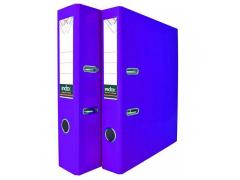 Папка-регистратор COLOURPLAY, 80 мм, ламинированная, неоновые цвета, арт. IND 8 LA, цвет фиолетовый
