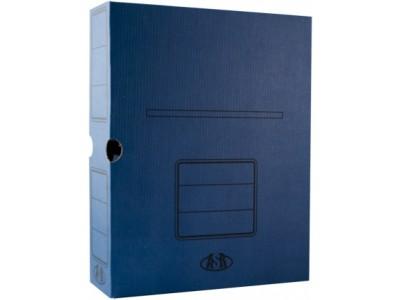 Короб архивный, 75мм, картон, цв. ассорти
