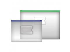 Папка на молнии прозрачная, молния ассорти 3 цвета, ф.A4, 160мкм, с карманом, арт. IPF56/ASS