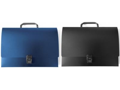 Папка - портфель с ручкой без отделений, Workmate, цвет синий
