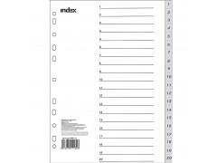 Разделитель пластиковый, цифровой 1-20, ф. А4, арт. IND113