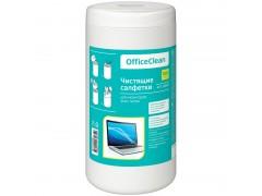 Туба с чист. салфетками OfficeClean для мониторов всех типов, 100шт., арт. 248261