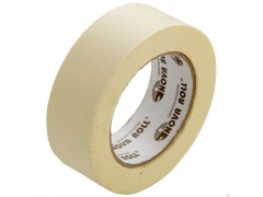 Лента малярная (скотч бумажный)  38мм*50м Nova Roll, белая (32)