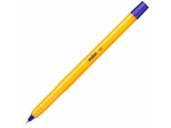 Ручка шариковая, пластиковый желтый корпус, 0,5мм, синяя, арт. IBP506/BU