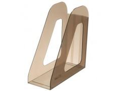 Лоток для бумаг ФАВОРИТ, вертикальный , тонированный , цвета коричневый