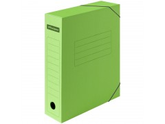 Папка архивная на резинках OfficeSpace, микрогофрокартон, 75мм, зеленый, до 700л. 225425