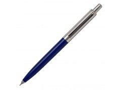 Авторучка шариковая, серебристый мет. клип, синий полуметаллический корпус, синие масляные чернила, арт. IMWT260/BU