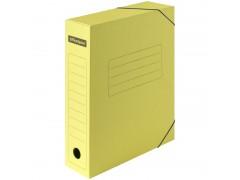 Папка архивная на резинках OfficeSpace, микрогофрокартон, 75мм, желтый, до 700л. 225426
