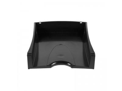 Лоток для бумаг горизонтальный Lux, черный, арт. IT808Bk