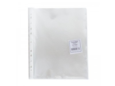 Вкладыш с перфорацией, А4+, глянцевый, 60 мкм, 100 штук в упаковке, арт. ПФ060