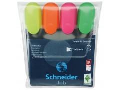 Набор текстовых маркеров Schneider JOB 4 шт
