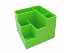 Подставка для канцелярских мелочей, 6 отделений, зеленая, ш/к 4607066138034