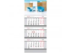 "Календарь квартальный 3 бл. на 3 гр. OfficeSpace ""Office style"", 2022г. 318406"