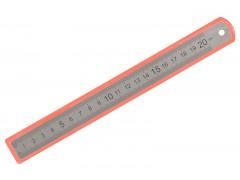 Линейка Silwerhof 160165 сталь нержавеющая дл.20см двухсторонняя шкала