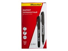 Маркер перманентный Silwerhof Line пулевидный пиш. наконечник 1мм черный