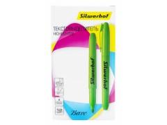 Текстовыделитель Silwerhof Base скошенный пиш. наконечник 1-4мм зеленый коробка