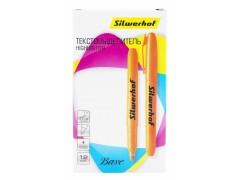 Текстовыделитель Silwerhof Base скошенный пиш. наконечник 1-4мм оранжевый коробка, арт.108034-03