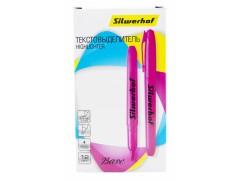 Текстовыделитель Silwerhof Base 108034-04 скошенный пиш. наконечник 1-4мм розовый коробка