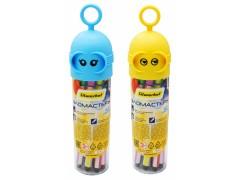 Фломастеры Silwerhof Robot 867222-12 12цв. пластиковая туба с подвесом