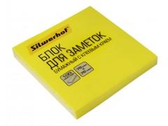 Блок самоклеящийся бумажный Silwerhof 682161-05 76x76мм 100лист. 75г/м2 неон желтый, арт. 1204468