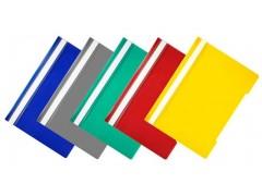 Папка-скоросшиватель Бюрократ -PS20/1 A4 прозрач.верх.лист пластик ассорти 0.12/0.16