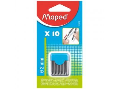 """Грифель д/циркуля 2 мм """"Maped"""" 10 шт., блистер, 134210"""