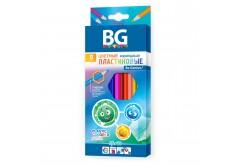 """Карандаши цветные BG """"SFERIKI"""", 12 цв, шестигранные, пластиковые, 2.7 мм, арт. KR12C_p 4654"""