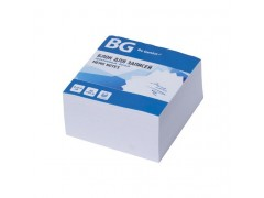 Блок для записей BG 8х8х4 см, проклеенный, БЕЛЫЙ, в термопленке, арт. BZa84 7049