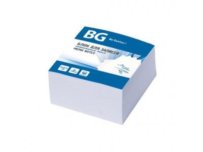 Блок для записей BG 8х8х4 см, непроклеенный, БЕЛЫЙ, в термопленке, арт. BZ84 7714