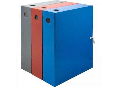 Папка на завязках, с 3-мя клапанами, лакированный микрогофрокартон, 470 г/кв.м,240х75х305 мм, цвета в ассортименте