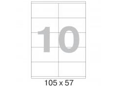 Этикетка самокл. А4/10, 100л., р.105*57мм. Labelmedia