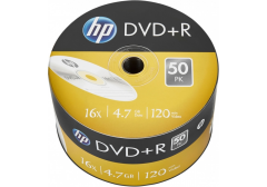 Диск DVD+R 4.7Gb 16x HP Printable в пленке 50 шт