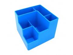 Подставка для канцелярских мелочей, 6 отделений, голубая, ш/к 4607066138027