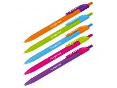 """Ручка шариковая автоматическая Berlingo """"Triangle Fuze RT"""", синяя, 0,7мм, трехгранный корпус CBm_07732"""
