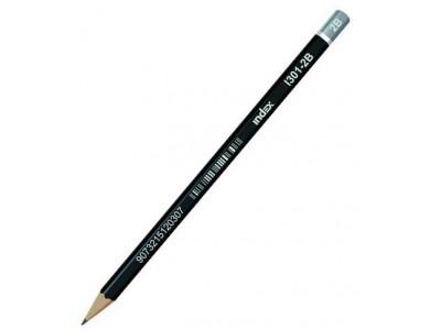 Карандаш чернографитный, без ластика, тв. 2B, в цвет. коробке, арт. I301-2B